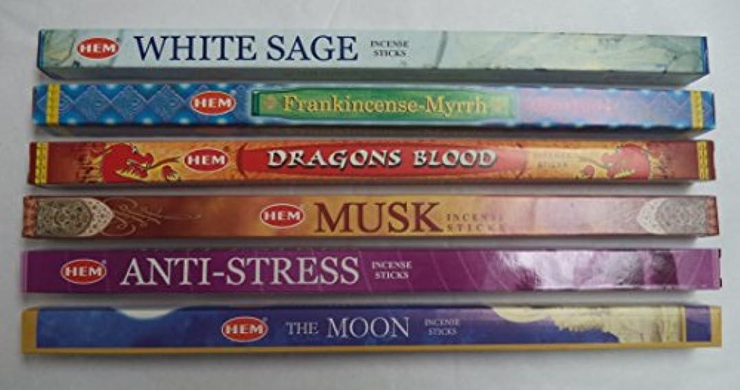 ナチュラル火山学下にHemお香Best Sellerセット: 6ボックス# 7 x 8スティック、合計48 Sticks