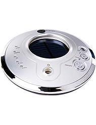 Auroraloveイオン空気清浄機Fresher USB車空気加湿器、ソーラーイオン加湿器、アロマセラピー車Essential Oil Diffuser、超音波車モードで調節可能なミスト加湿器 シルバー