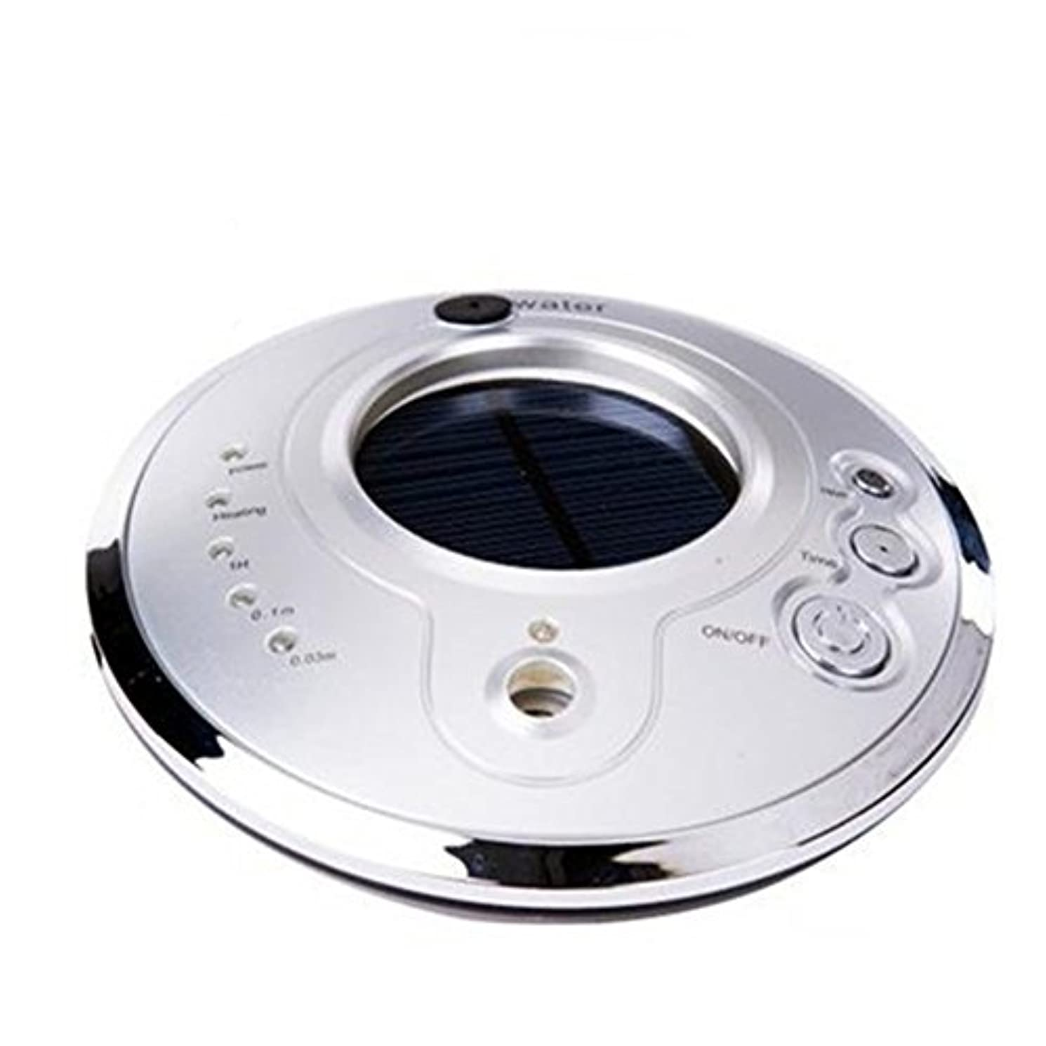 磁気後ろに落胆させるAuroraloveイオン空気清浄機Fresher USB車空気加湿器、ソーラーイオン加湿器、アロマセラピー車Essential Oil Diffuser、超音波車モードで調節可能なミスト加湿器 シルバー