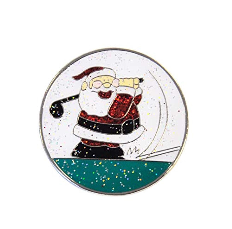 集中的なライナー忌み嫌うNavika Glitzy Golfingサンタボールマーカーwith磁気帽子クリップ – Great Stocking Stuffer 。