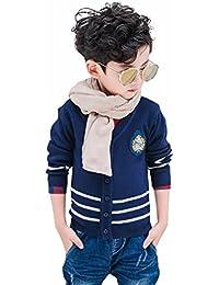 415beb5af0b76 Burning Go 子供服 カーディガン 男の子 ニット セーター ボーイズ Vネック スクール ジュニア 前開き 徽章