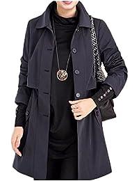 ナナコレクション Nana_Collection 春 秋 ルダンゴト シングル 前ボタン 通勤 薄手 スプリングコート エレガント プラスサイズ 女性 コート
