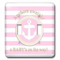 3drose LSP _ 179693_ 2錨を上げてA Babys On The Way–forピンクNauticalガールズベビーシャワーダブル切り替えスイッチ