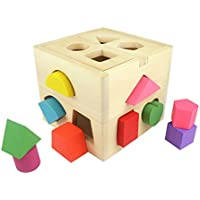 Shape Sorting Toys toymytoy木製シェイプソーターEarly開発おもちゃfor Toddlers