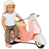 Our Generationピンクとアイボリースクーターfor 18インチ人形