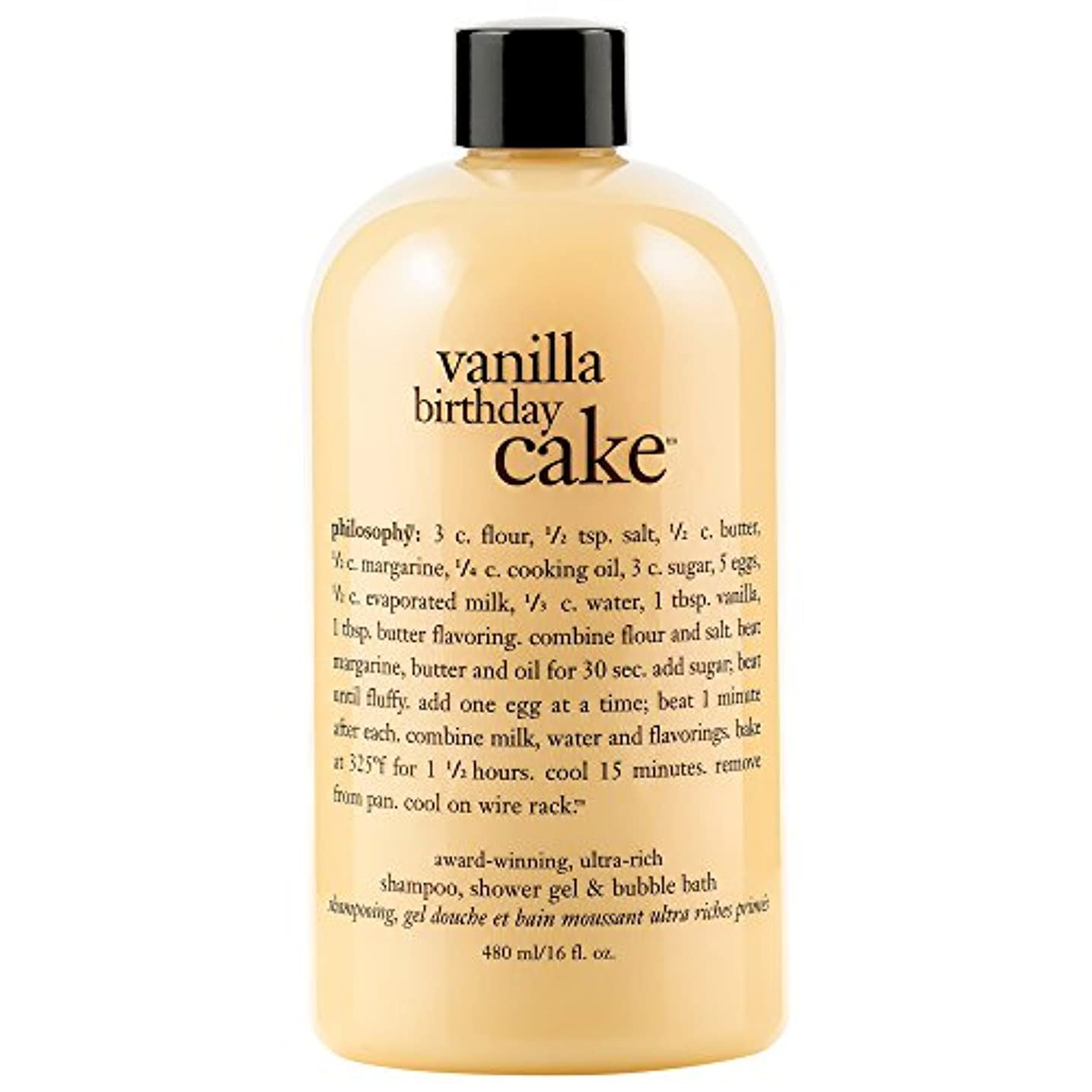 破産重くするマニアック哲学バニラバースデーケーキシャンプー/シャワージェル/バブルバス480ミリリットル (Philosophy) - Philosophy Vanilla Birthday Cake Shampoo/Shower Gel/Bubble Bath 480ml [並行輸入品]