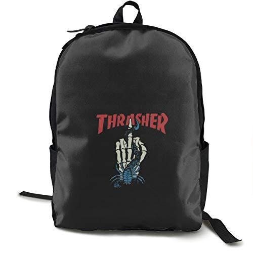 559a35d3072c Thrasher リュック メンズ 大容量 リュックサック ラップトップ 通学 バックパック 軽量 黒 ビジネスリュック