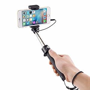 SIDARDOE 自撮り棒 セルカ棒 有線 ブラック iphone android xperia 対応