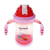 Baoblaze 全3色 ストローマグ ベビーマグ 200ml 便利 - ピンク