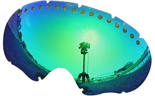 オークリー A FRAME1.0 ゴーグル用交換レンズ GREEN MIRROR