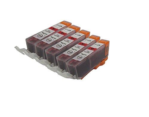 【Ecolink】Canon キヤノン BCI-326M マゼンタ 単品5個セット ICチップ付き BCI-326+325/6MP & BCI-326+325/5MP 対応 互換インクカートリッジ
