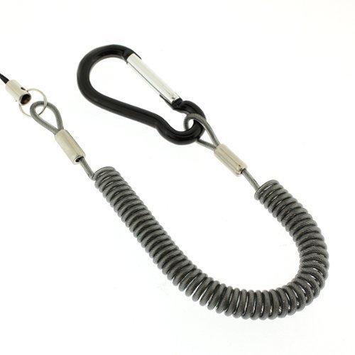 強力バンジーコイル携帯ストラップ(カラビナタイプ/ブラック)