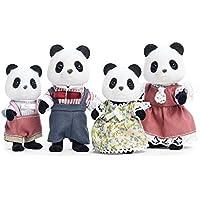 Calico Crittersカリコクリッターズ ワイルダーパンダベアファミリー/ Wilder Panda Bear Family [並行輸入品]