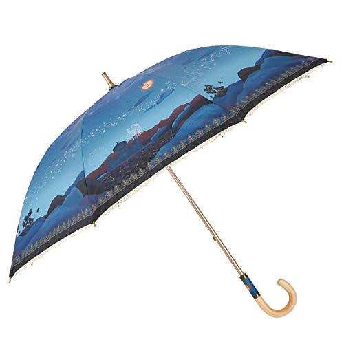 小川(Ogawa) ショートスライド晴雨兼用長傘 手開き 50cm ディズニー アラジン マジカルナイト 晴雨兼用 UV加工 遮熱遮光加工 はっ水 57206