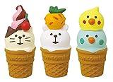 デコレ(Decole) 置物 アイスクリームセット 1個:φ2×H4.3cm コンコンブル concombre ZSV-17288