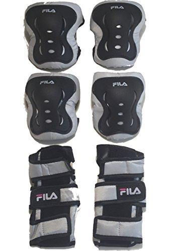 [フィラ スケート] FIRA SKATES X-ONE G インラインスケート キッズ ジュニア 子供用 国内正規代理店品 (BLACK/WHITE/PINK 純正プロテクターセット, 1.S(18.5-20.5cm))