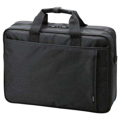 エレコム ビジネスバッグ 16.4インチワイド 大容量タイプ ブラック BM-SDLABK