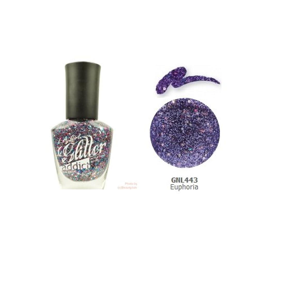追放するホラー種をまく(3 Pack) LA GIRL Glitter Addict Polish - Euphoria (並行輸入品)
