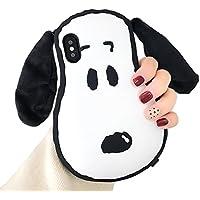 iPhone 6 携帯電話ケース 漫画 可愛い 長い耳いぬ 創意デザイン 耐衝撃 ソフトシリコン ネックストラップ付き iPhone 6s 保護カバー  (iPhone 6 / 6s, Long Ears Dog)