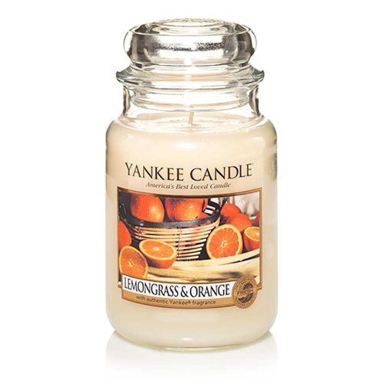 たっぷり暗殺者申請者Yankee Candle Lemongrass & Orange - 22oz Large Housewarmer Jar by Yankee Candle [並行輸入品]