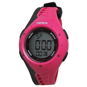 [クレファー]CREPHA 腕時計 T-SPORTS デジタル表示 10気圧防水 ピンク AZ-TS-D040-PK ガールズ