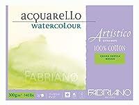 ファブリアーノArtisticoラフ水彩ブロック - 小(23x30.5cm) - 高ホワイト