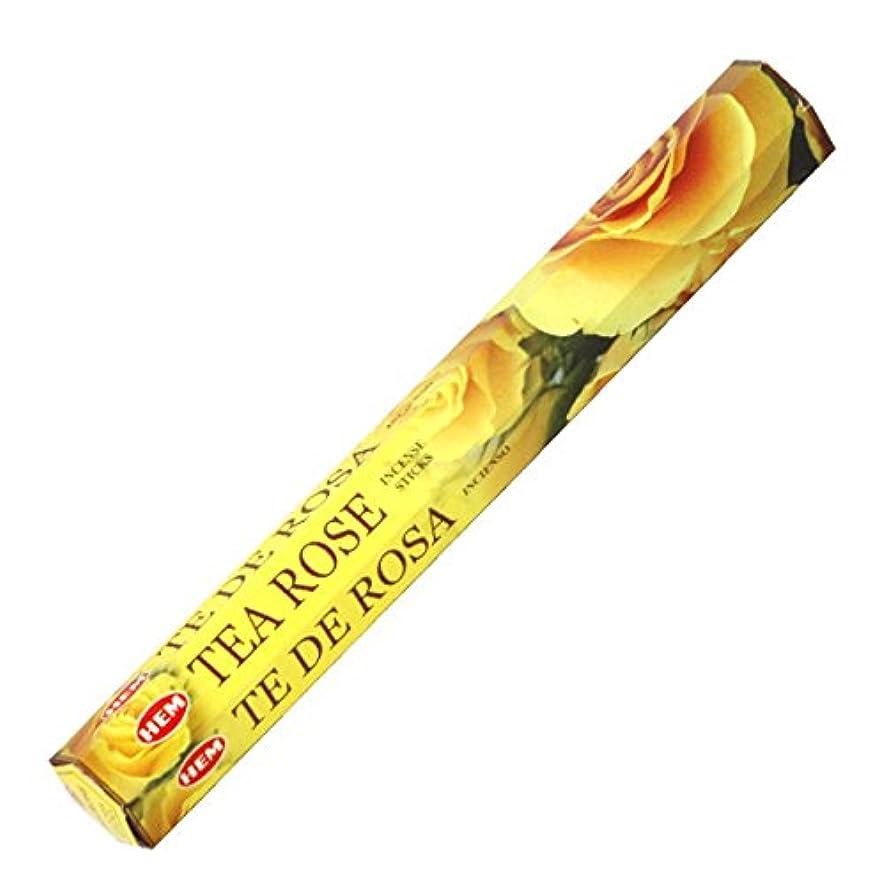 レキシコン記念日オリエンタルHEM(ヘム) ティーローズ TEA ROSE スティックタイプ お香 1筒 単品 [並行輸入品]