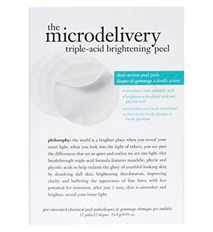 面グラス伴う哲学ミクロ送達トリプル酸増白皮 (Philosophy) (x2) - philosophy the microdelivery triple-acid brightening peel (Pack of 2) [並行輸入品]