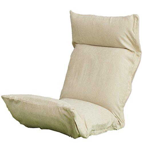 タンスのゲン 座椅子カバー 洗える マイクロファイバーカバー アイボリー 15110001 IV