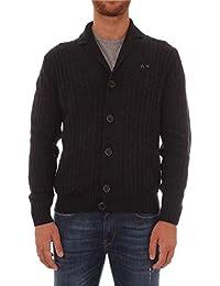Sun 68 メンズ K28150BLACK ブラック ウール ウールセーター