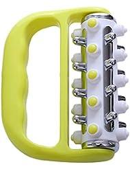 Creacom マッサージローラー マッサージ ブラシ ローラー 脂肪除去 ボディシェイプ 足 ほぐし 血行促進 浮腫み解消 疲労回復 ダイエットボディローラー セルフケア 筋膜リリース