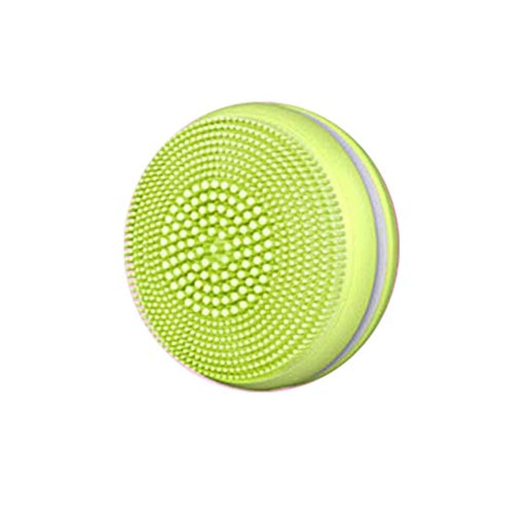 フロンティア誇張する親指Tenflyer 1ピース電気フェイシャルブラシクレンザー超音波シリコーンフェイシャルマッサージ