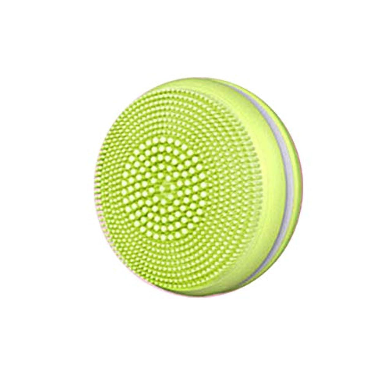 バウンスお金ゴムスイングTenflyer 1ピース電気フェイシャルブラシクレンザー超音波シリコーンフェイシャルマッサージ