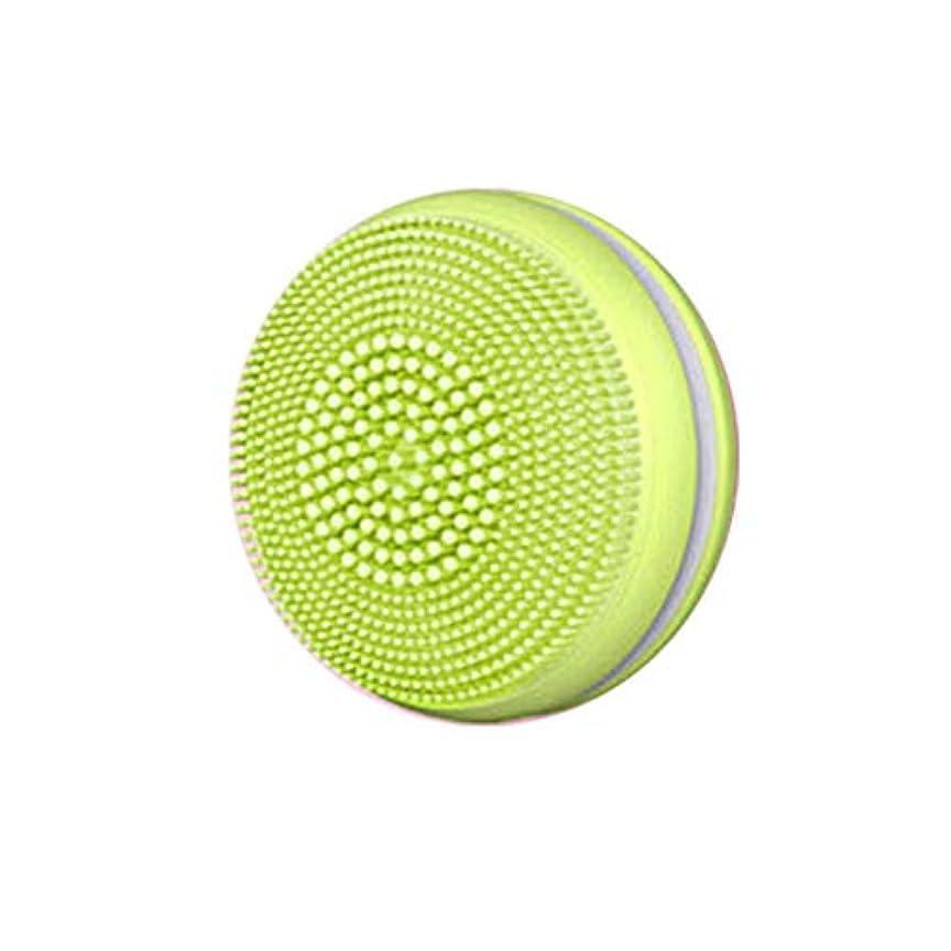 基本的なカメ湿度Tenflyer 1ピース電気フェイシャルブラシクレンザー超音波シリコーンフェイシャルマッサージ