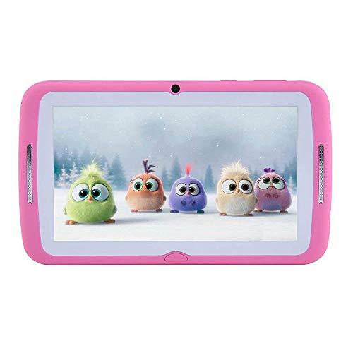 子供用タブレットAndroid 7インチ、HDディスプレイ、クアッドコア、キッズタブレットpc 7インチ、WiFi、デュアルカメラ、Bluetooth、教育、タッチスクリーンの子供モード、ペアレンタルコントロール付きの1GBメモリ+ 8GB ROM(ピンク)
