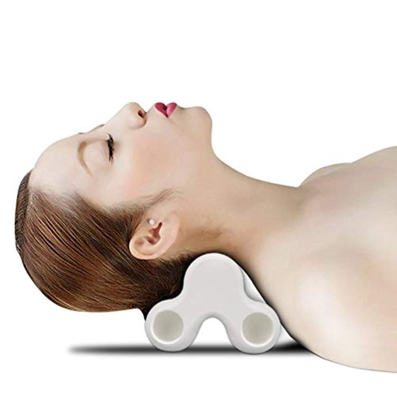 結果使用法シンポジウムネックピロー 首枕 4点指圧 フィットネス ほぐし リラックス 擦ってリフレッシュ ツボ押し