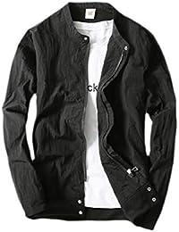 maweisong メンズスタンドカラーパッケージカジュアル薄いジャケットウインドブレーカーコート