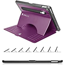 ZUGU CASE - 2017 iPad Pro 12.9 inch (1st & 2nd Gen) Case Prodigy X - Very Protective But Thin + Convenient Magnetic Stand + Sleep/Wake Cover (Purple 2017/2015 Version)