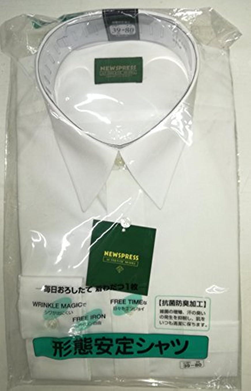入札名義で囲い白 長袖 ワイシャツ L???? 首回り41cm 袖丈(ユキ)82cm