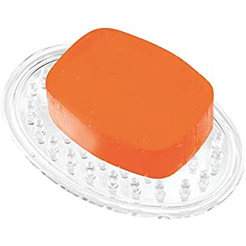 InterDesign 石鹸 ソープ ホルダー トレイ 楕円形 オーバル クリア 30100EJ