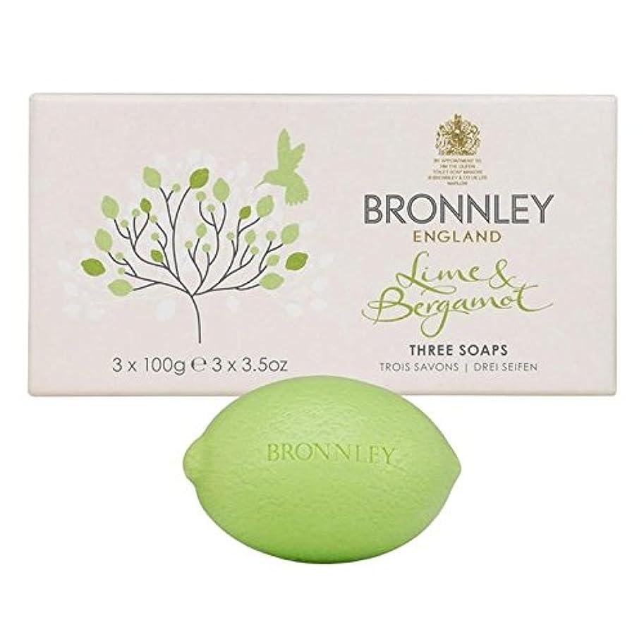 科学者奇跡リードライム&ベルガモット石鹸3×100グラム x2 - Bronnley Lime & Bergamot Soap 3 x 100g (Pack of 2) [並行輸入品]