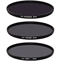 Ice Extreme NDフィルタセット82mm nd100000nd1000nd64ニュートラル密度8216.5,10、6Stop光学ガラス