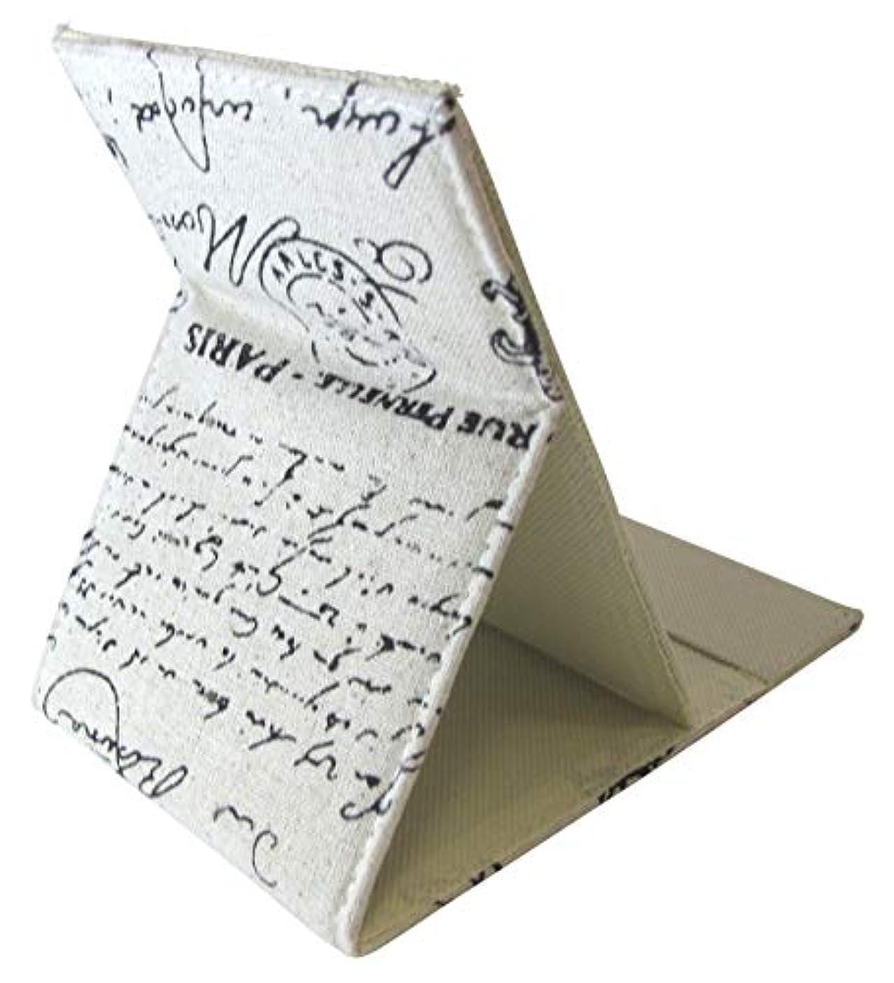 現代の機密奨励します折りたたみ 式 化粧鏡 スタンド ミラー 卓上 女優 ミラー 角度 調整 自由 自在 (英文字)