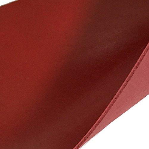 牛革 皮 北米 原皮 レザークラフト 素材 ヌメ革 脱クロム アニリン仕上げ (レッド(6ds 約20cm×30cm))