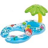 INTEX(インテックス)浮き輪 親子用 うきわ プールボート 足入れ プール?海?川 泳ぎトレーナー タンデムリング 屋根付き ハンドル付き おもちゃ
