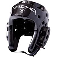 Macho Dyna空手/ Martial Arts Headgear – ブラック – XX - L