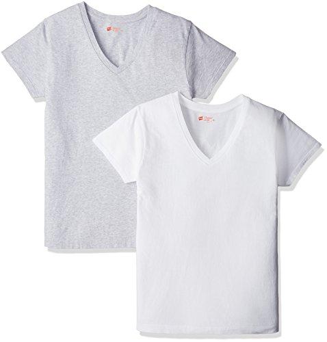(ヘインズ)Hanes Tシャツ ジャパンフィット Vネック 2枚組【アソート】