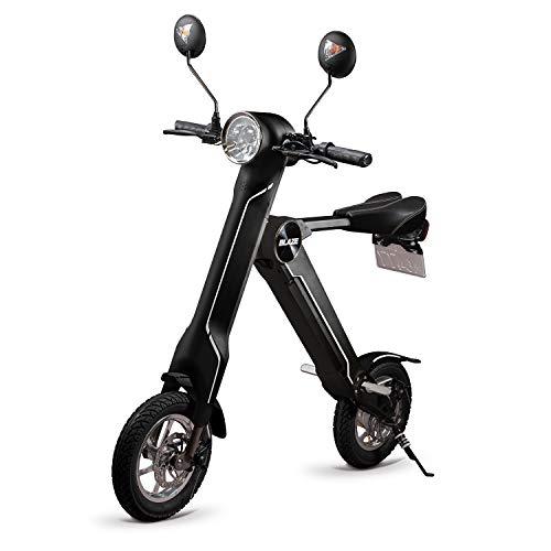 BLAZE 電動バイク 折りたたみ型 (ナンバー取得付き) ブラック SMART EV 車内積込み可能 12インチ 重量約18k...