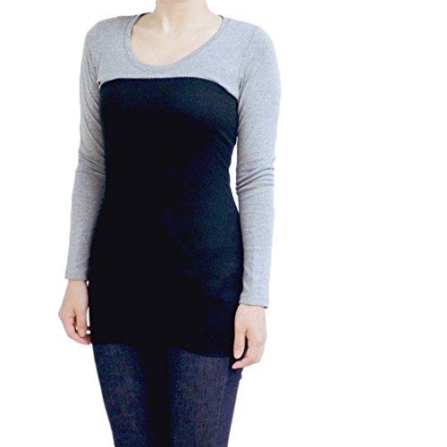 上質シルク100%腹巻 55cm ロング丈 日本製 光沢がある絹紡糸を100%使用。温活・妊活応援アイテム (ブラック)