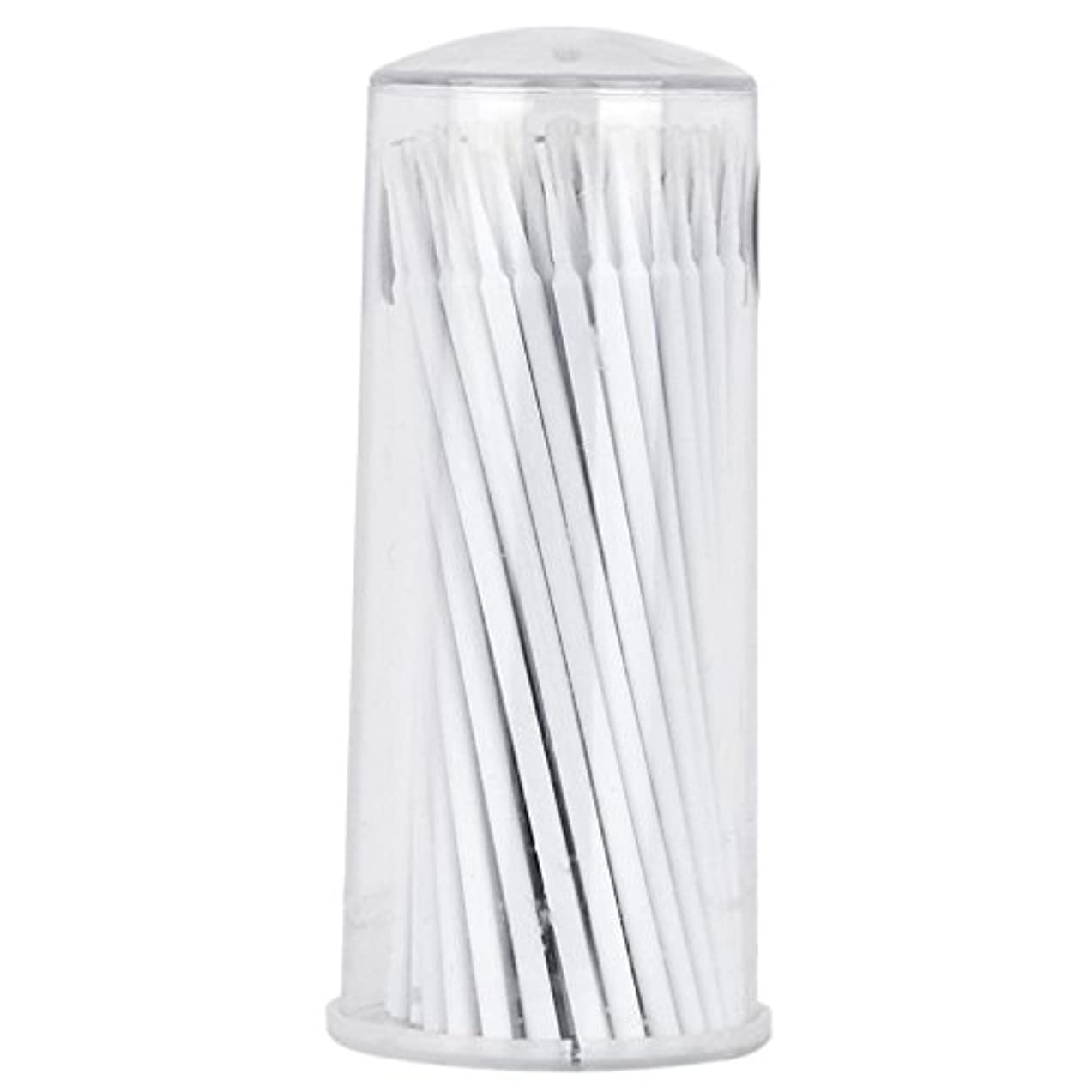 昼寝牽引誰がNon-brand 100個のまつげの拡張マイクロブラシの綿棒タトゥーマイクロブレーディング使い捨てアプリケータ - 白